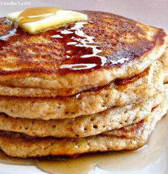 สูตรแพนเค้ก - Traditional pancakes with maple syrup butter