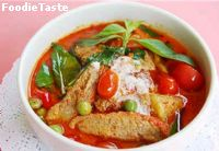 Red curry with roasted duck  แกงเผ็ดเป็ดย่าง