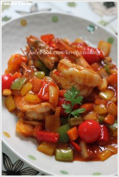 �Ѵ��������ҹ���  Sweet and Sour Prawns