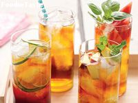 ชาพีช (Peach and Mint Iced Tea)