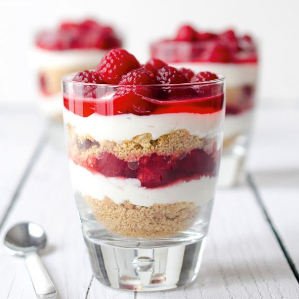 Mini Raspberry Ricotta Parfaits