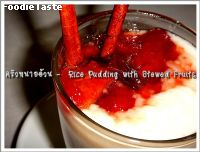 Rice Pudding with Stewed Fruits